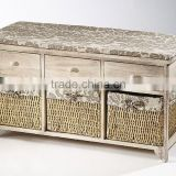 New Hand-woven Solid Wood Bathroom Modern Shoe Cabinet
