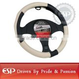 #19569 38cm diameter Genuine Leather Cool Steering wheel cover