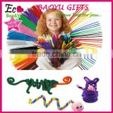 hand craft Chenille Stem for kids diy pipe cleaners toys 100pcs/bag