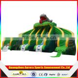New Design Inflatable Water Slide and Pool with Cannon Water Slide Park
