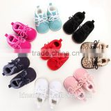 KS10177S Winter Boys And Girls Warm Rubber Soled Velveteen Baby Prewalker Shoes