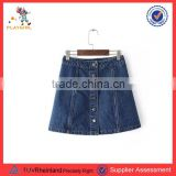 PGWC-3419 Summer Apparel Export Items Girl Skirts New Fashion Mini Casual Denim Ladies A-line Skirt Plus Size