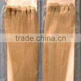 Silky Straight Machine Made Blonde Human Hair Weaving Extensions Double Layer Colored Blonde Human Hair Weaves