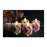 Candy Cane Design Flameless Tealight Candles / Plastic LED Tealights for Home Decor