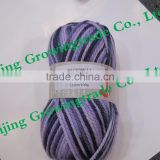 Chunky 60%Acrylic 40% superwashed Merino wool blended solid colour and multi-color soft needle yarn hand knitting yarn