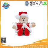 China supplier plush Christmas bear toy for kids gift