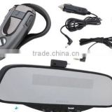 Handsfree Rearview Mirror With Earpiece Bluetooth Car Kits