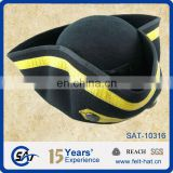 Distressed Pirate Captain Tricorn Fancy Dress Hat New pure wool felt hat