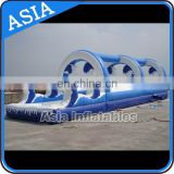 Backyard Inflatable Wave Slip N Slide For Water Amusement
