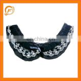 black lace beautiful lady neck trims for sale