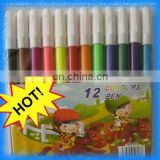 12pcs cheap water color pen set with pvc packing