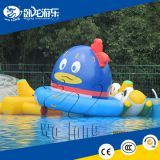 Factory price inflatable disco boat towable, commercial grade inflatable disco boat water toy for sale