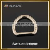 Factory Plated 1 inch D Ring Metal For Handbag, Custom Glossy Or Matt D Ring For Handbags