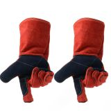Welding Work Gloves Double Layered Heat Resistant Lined Leather Gloves