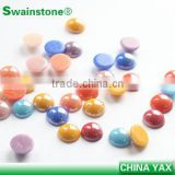 1209C China best quality ceramic half round pearl; half round ceramic pearl; flat back ceramic pearl half round for DIY nail art
