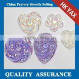 0601C 2015 new arraival resin stone hot fix, China resin strass for dress, wholesale resin strass for garment