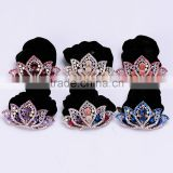 2015 Hot Stylish Women Classical Fashion Hair Clip Leaf Crystal Rhinestone Barrette Hairpin Headband Hair Band Accessories