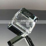 3D glass cube laser engraving for gifts crystal 3D cube engraving