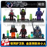 Mini Qute LEBQ 6pcs/set American Movie model Guardians of the Galaxy super hero building block action figures educational toy