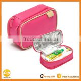 OEM waterproof travel toiletry bag for girls,pink travel cosmetic bag,polyester beauty cosmetic case