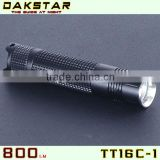 DAKSTAR TT16C-1 800LM CREE XML T6 18650 Aluminum Police Emergency Rechargeable Mini LED Flashlight