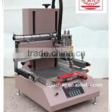 High Speed Semi-automatic Small Precise Vision Adjustment Silk Screen Printer for Garment