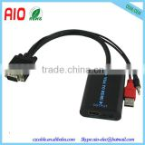 VGA to HDMI Adaptor Converter With Audio AV Converter HDTV Video Cable For TV PC