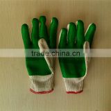 latex rubber gloves/working glove, rubber palm coated cotton glove, latex rubber hand gloves