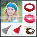 Fashion solid color cotton stretch men's sports headband running fitness headband for women