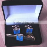 custom logo swank wholesale cufflinks with velvet box