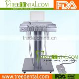 TR-M600 Cart Type Dental Delivery System, Push-Type Pneumatic Elevation, Double Water Bottles Design dental carts