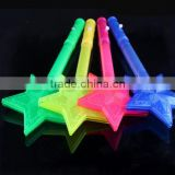Color Star/Heart LED Light Stick Shiny Cheering Glow Flash Light Stick Christmas Gift Party