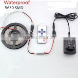 5630 Led Strip Light Waterproof 5M 300 Led Fleible String Light + 3A Power + 10key RF Remote Control Indoor Home Decoration