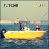 No.1 China 22FT center console outboard engine CE Approved Small Fiberglass Speed Boat with Price