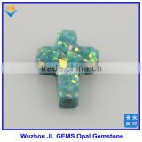 Synthetic 9*12mm Cross Shape Opal Stone Jewelry Made In China