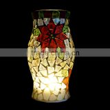 Handmade Crackle Mosaic Glass Mirror Vase For Home Decoration