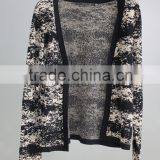 Gold and silver thread cardigan Color pattern sweater