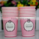 Paper cups Disposable custom made company logo diary printing double wall custom printed mini disposable paper cups
