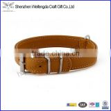 bulk dog collar belt factory supply leather dog leash made in china 2015                                                                         Quality Choice