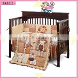 2016 New Fashion 100%Cotton Crib Bedding Set Mada Forest Baby Boy bedding Set