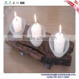 White Cup Shaped Plastic Candle Holders