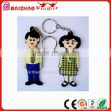 2016 New 3D Cartoon Acrylic key Ring PVC Key Tag