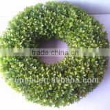 YiWu cheap price boxwood landscaping artificial grass wreaths