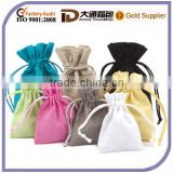 Cotton Linen Gift Pouch Wholesale Hemp Drawstring Bag