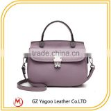 Low price PU lady leather handbag from Guangzhou factory