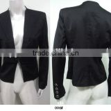 One button black women suit