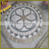 China Manufacturer of Simple Pattern Marble Medallion Mosaic, waterjet mosaic tiles floor medallion patterns