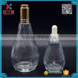 Hot selling 50ml 125ml glass teardrop pear shape essential oil bottles                                                                                                         Supplier's Choice