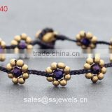 High Quality Crystal Glass Beads Flower Friendship Bracelets Phi Wholesale Fashion Design Jewellry