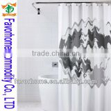 Moon PVC/PE shower curtain/bath curtain for kids